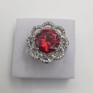 5 CARAT AAA RED GARNET 925(sterling silver) Size 8